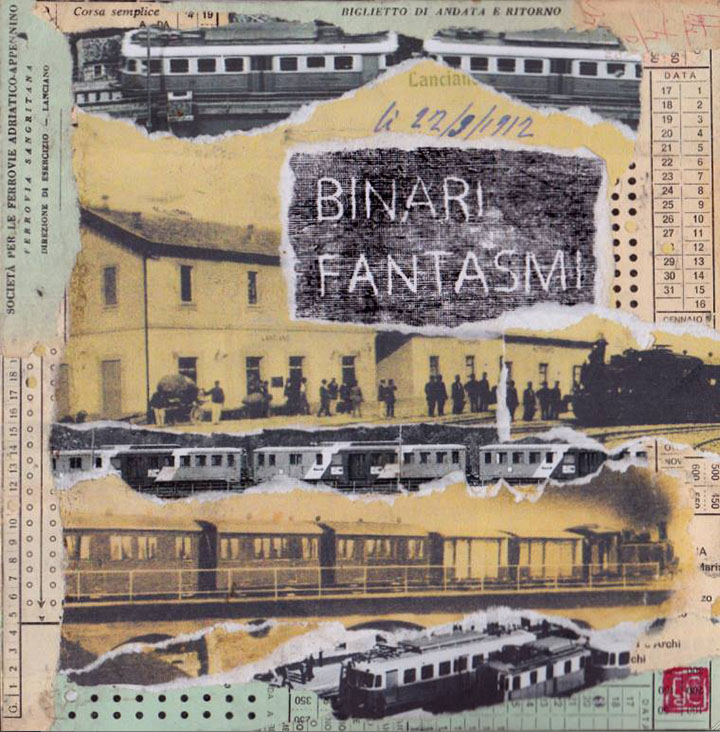 Gaetano De Crecchio | Binari Fantasmi | Libro d'Artista