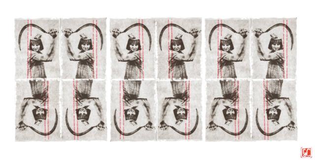Gaetano De Crecchio | MultiSickle Mosaico | Fotografia Fiscale realizzata su Carta scontrino